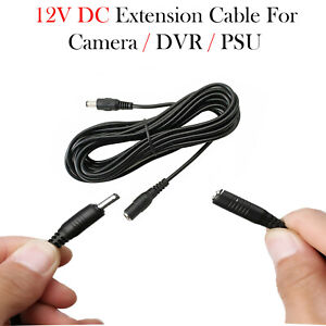 DC Power Supply Extension Cable Wire 12V for CCTV Camera/DVR/PSU Lead 3M/5M/10M