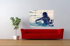 Foto Sport Surf Surf Tabla De Surf Chica Mar Océano Gigante impresión arte cartel nor1006