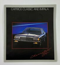 1984 Chevrolet Chevy Caprice Classic and Impala Brochure Catalog