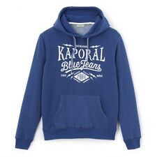 kaporal-mikky-Hooded sweatshirt with felt lettering XL Blue worker- BNWT RRP £55