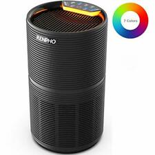 RENPHO Air Purifier for Home Bedroom, Quiet Purifier with H13 True HEPA Filter