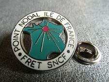 RARE PINS PIN'S - TRAIN - SNCF - FRET - POINT NODAL - IDF - ZAMAC ARGENT * EF *