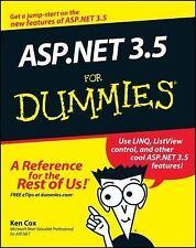 ASP.NET 3.5 For Dummies by Cox, Ken, Good Book