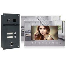 2 Familienhaus 2 Draht Video Fingerprint Türsprechanlage Gegensprechanlage 170°