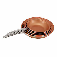 Copper Non-Stick Induction Frying Pan Dishwasher Safe Fry Cookware 22-28cm