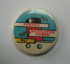 More details for pontin's middleton tower 1967 rare holiday camp souvenir tin pin button badge