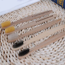 Adult Wood Handle Toothbrushes Oral Dental Care Super Bamboo Charcoal Bristles