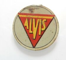 Alvis Cars  Lithographed Tin Badge Magnet Comic Giveaway 1929 V.Rare