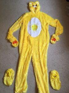 Care bears Funshine yellow bear costume jumpsuit adult size large