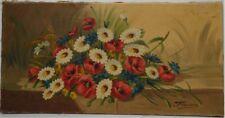 HUILE SUR TOILE. Francisco. Bouquet de fleurs. Ht385