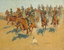 Remington Frederic On The Southern Plains Canvas 16 x 20      #5065