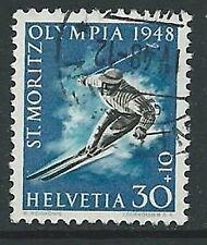 1948 SVIZZERA USATO OLIMPIADI INVERNALI DI ST. MORITZ 30 CENT - G038