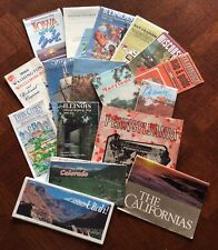 Joblot of 17 Vintage USA States Road Highway Maps Tourist Guides Retro Travel