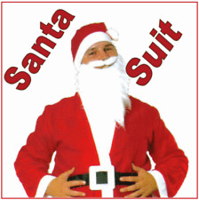 Father Christmas Santa Clause Suit  Xmas Costume Fancy Dress New