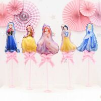 10pcs/lot Cartoon Princess Mini Foil Balloons Children Birthday Party Supplies