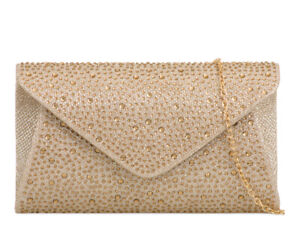 KoKo Women's Diamante Clutch Bag Wedding Evening Wedding Purse Bags L759