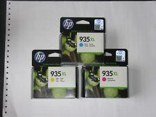 HP original C2P24A+5A+6A No935XL cyan+magenta+yellow ink cartridges ~825pages