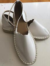 Qupid Leather Espadrilles White  Sz 8.5 NWOT