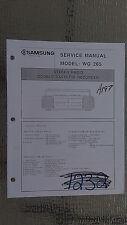 Samsung wg 265 service manual original repair book stereo boombox radio