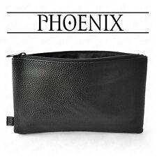 Pencil Case Leather Look Black Faux Leather Premium Pencil Case by PHOENIX