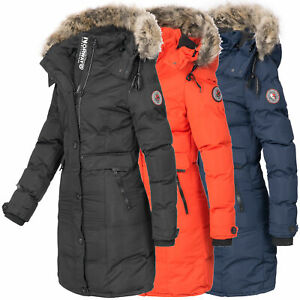 Geographical Norway Jacke Damen Winter Mantel Parka lang Winterjacke OMCalory