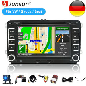 "7"" Autoradio Navi GPS DVD Bluetooth Für VW Golf 5 6 Passat Touran EOS Skoda"