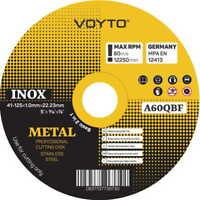"""10 x Angle Grinder Cutting Discs (5"""") 125mm x 1mm Thin METAL STEEL INOX PVC"""
