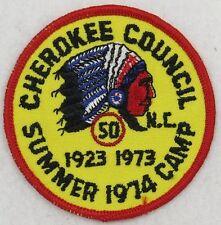 Camp Cherokee 1974 Cherokee Summer Camp; 50th Anniversary; red [B4605]