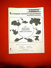 "ROPER SEARS TRACTOR 38"" 8 HP BRIGGS GAS POWERED ROTO TILLER ATTACHMENT MANUAL"