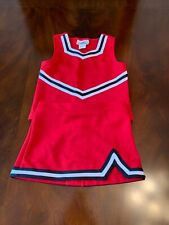 cheerleading uniform YXS red with what and black brading motionwear
