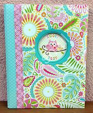 CR Gibson Dena HAPPI Owl Baby Girl Memory Keepsake Book 1st 5 Yrs Pink Paisley