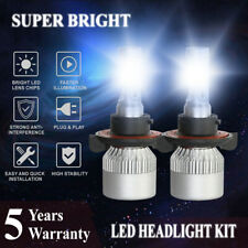 H13 9008 LED Headlight High/Low Beam 1800W 228000LM 6000K White Bulbs Lamp Light