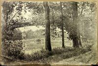 Paul LOUCHET (1854-1936) Grand Dessin Fusain La Ferté sous Jouarre Pont
