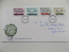 First Day Cover Postmarked Harlow 1982 - British Motor Cars