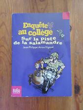 Enquête au collège Sur la piste de la salamandre - Arrou-Vignod - Folio Junior