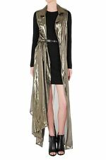 SASS AND BIDE THE PRISM.THE MAZE MAXI SLEEVELESS COAT JACKET in Gold RRP$490  8