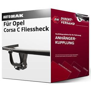 Für Opel Corsa C Fliessheck Typ F08/F68 (Auto Hak) Anhängerkupplung starr neu
