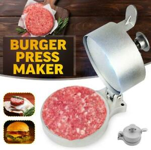 Burger Press Hamburger Patty Maker Mold Meat Aluminum Alloy Non-Stick