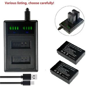LP-E12 Battery or LCD Dual Charger for Canon EOS M50 M100 100D Kiss X7 Rebel