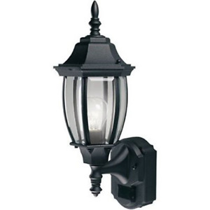Motion Sensor Glass Exterior Outdoor Lantern Wall Light Fixture For Patio Porch