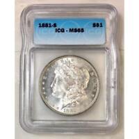 1881 S Morgan Dollar ICG MS65 #3101111