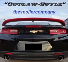 PAINTED GM BLACK OUTLAW-STYLE REAR SPOILER FOR CHEVROLET CAMARO CPE 2016-2017