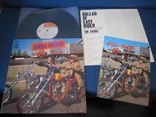 Byrds Ballad of Easy Rider Japan Vinyl LP with Film Program Book Unique Sleeve