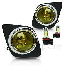 2008-2012 Toyota Rav4 Fog Lights w/Wiring Kit & COB LED Bulbs - Yellow