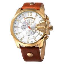 CURREN Original Men's Sports Waterproof Calendar Leather Strap wrist Watch 8176