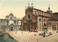 Venezia. San Giovanni e Paolo col Monumento Colleoni. Photochrome original d&#03