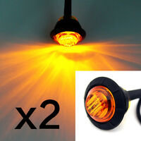 12V 24V Amber LED Side Marker Light Indicator Lamp Truck Trailer Caravan Lorry