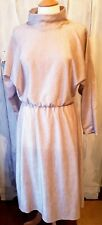 VINTAGE HANDMADE 1970s MIDI DRESS GOLD LUREX APPROX SIZE 10/12