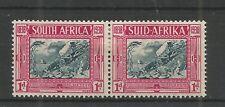 SOUTH AFRICA 1938 VOORTREKKER 1d + 1d BLUE & CARMINE PAIR SG,77 M/M LOT 6305A