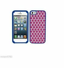 Juicy Couture Polka Dot Silicone Case For iPhone 5 / 5S, Pink / White / Blue